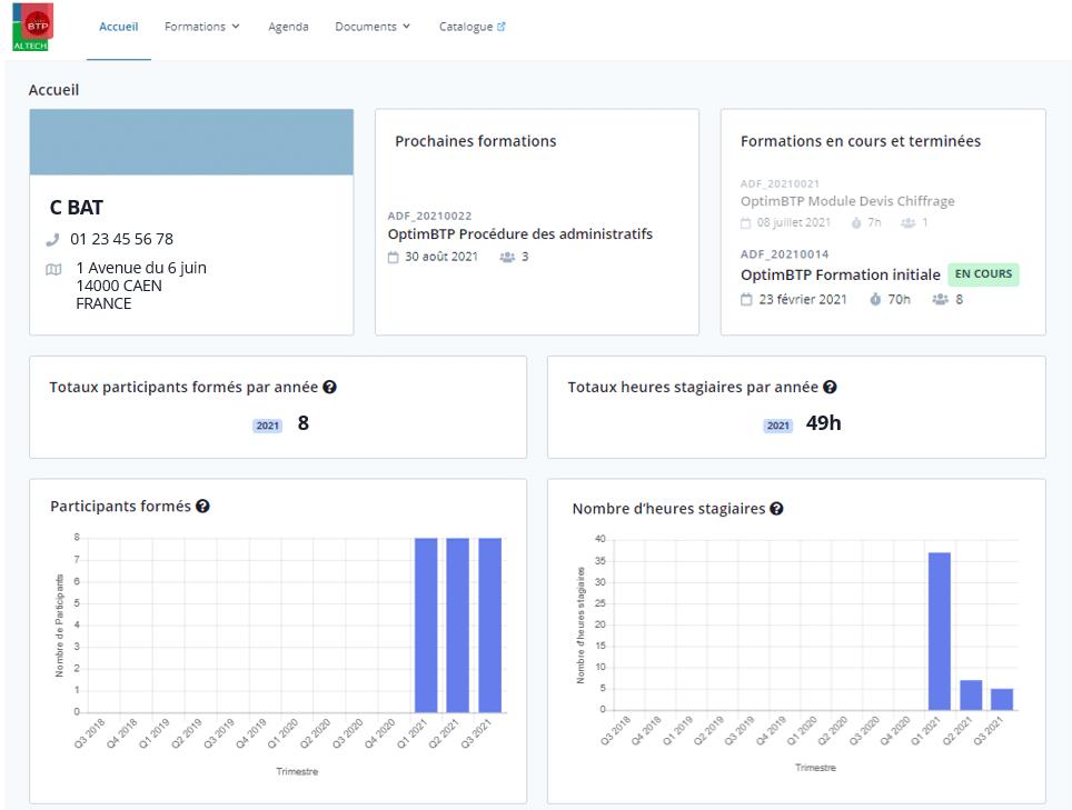 Extranet client participant formation Optim BTP
